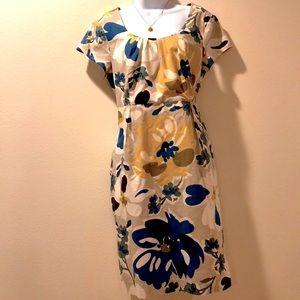 Boden cotton print dress size 12